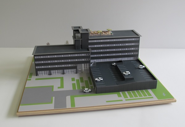 Appartementencomplex maquette