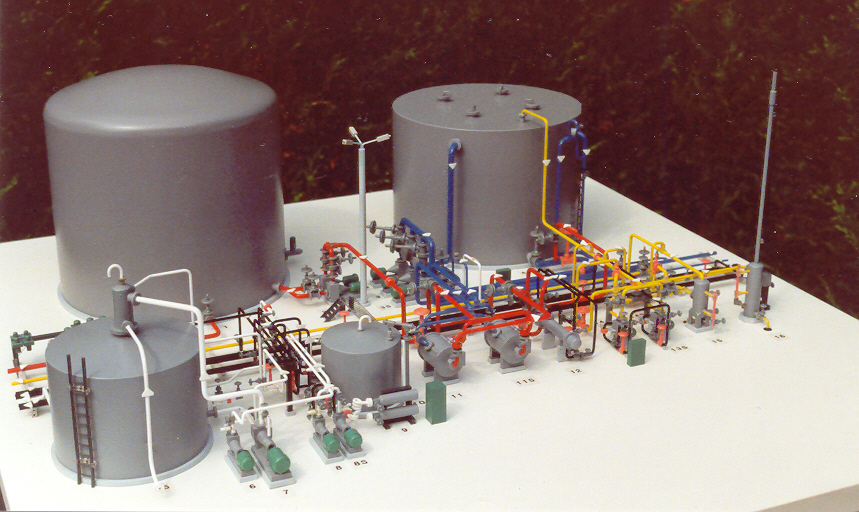 Waste Water Treatment plant Maquette