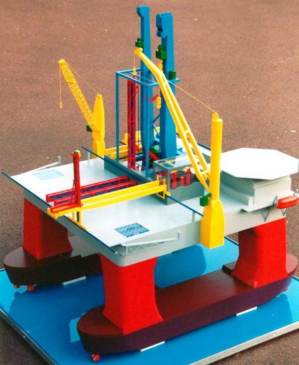 Deep water drill platform