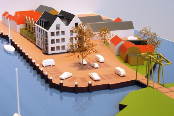 Woningbouwproject maquette