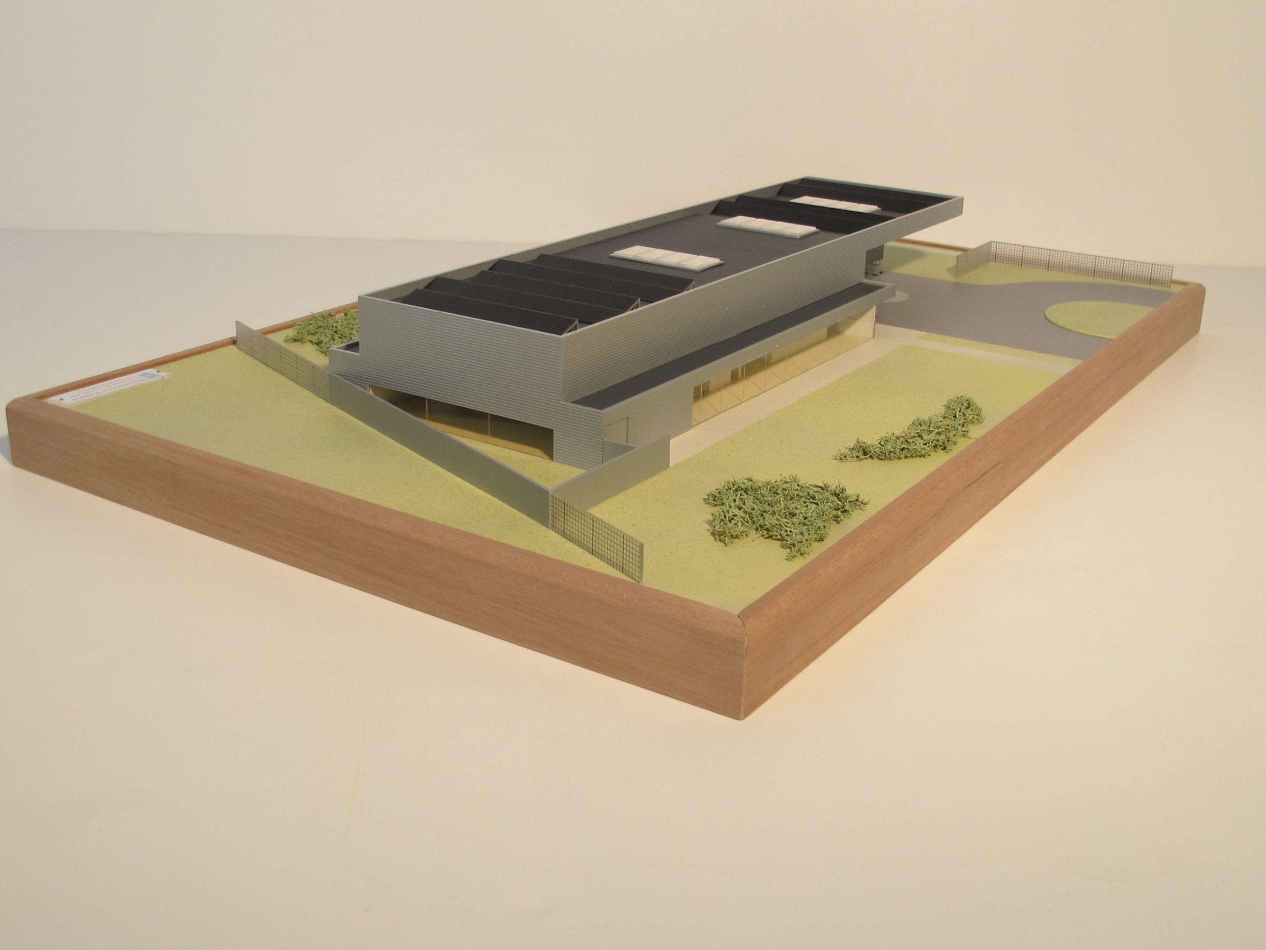Entreegebouw Petten maquette